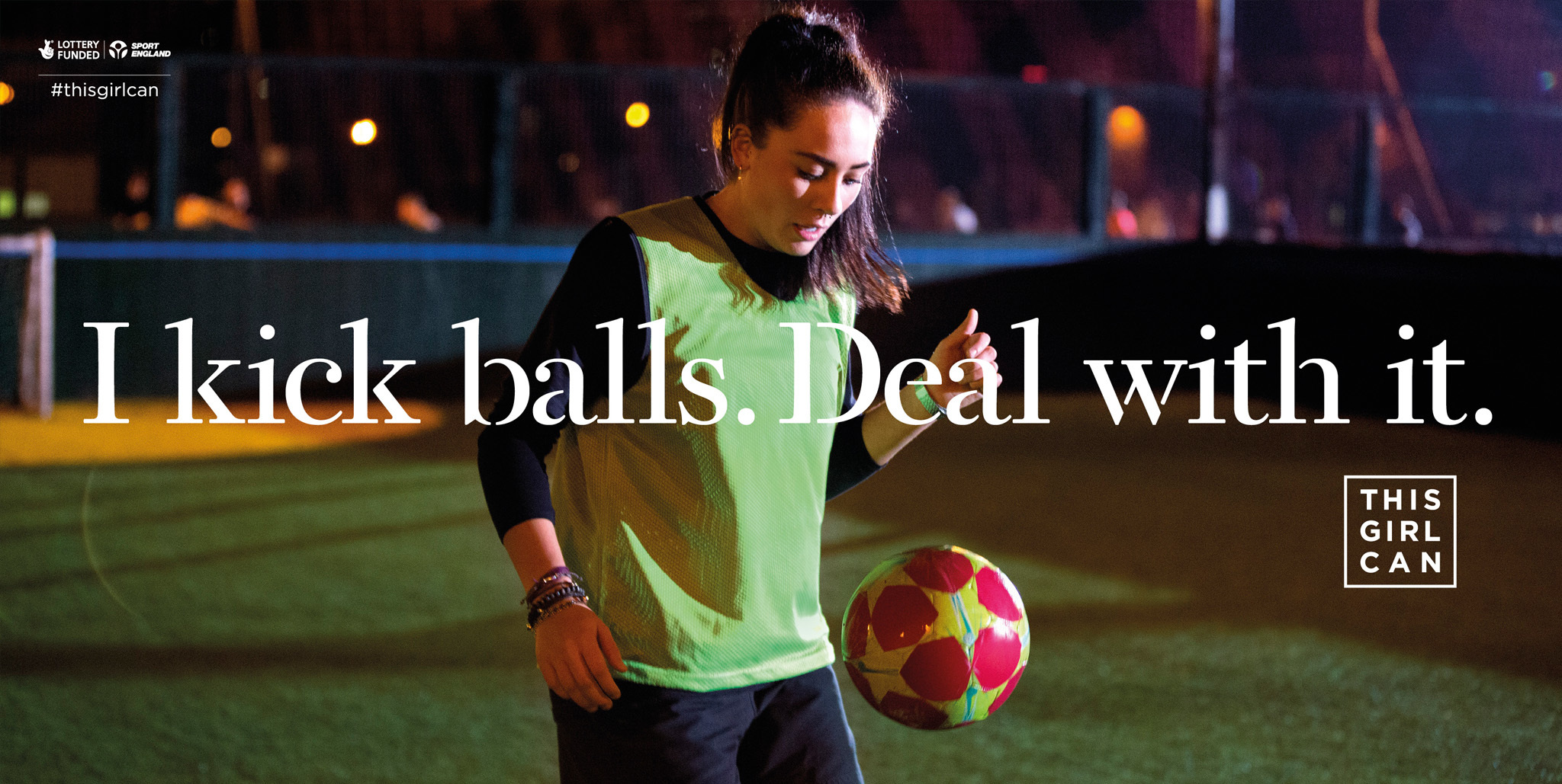 This Girl Can Mantra Image - I Kick Balls, Deal With it